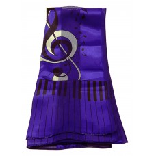 Scarf - Large Treble Clef and Piano Keys (Purple)