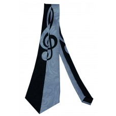 Steven Harris Bold Treble Clef Neck Tie (Navy Blue)