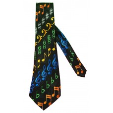 Steven Harris Diagonal Multicolored Music Symbols (Black)