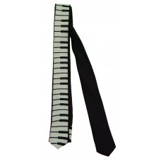 Skinny Neck Tie (Keyboard with Black Background)