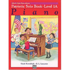Alfred Basic Piano Library Patriotic Solo Book - Level 1A