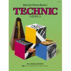 Bastien Piano Basics: Technic Book Level 3