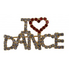 "Brooch ""I Heart Dance"" (Gold)"