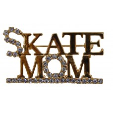 "Brooch ""Skate Mom"" (Gold)"