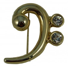 Brooch Bass Clef (Gold)