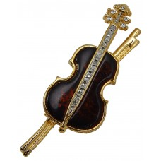 Brooch Cello (Gold)